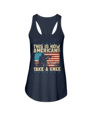 This Is How Americans Take A Knee Ladies Flowy Tank front