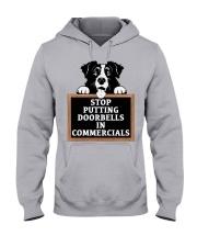 Stop Putting Doorbells in Commercials Hooded Sweatshirt thumbnail