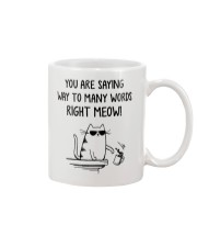 You are saying way to many words Right Meow Mug front