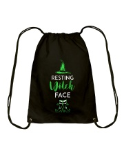 Resting Witch Face Oz Drawstring Bag thumbnail