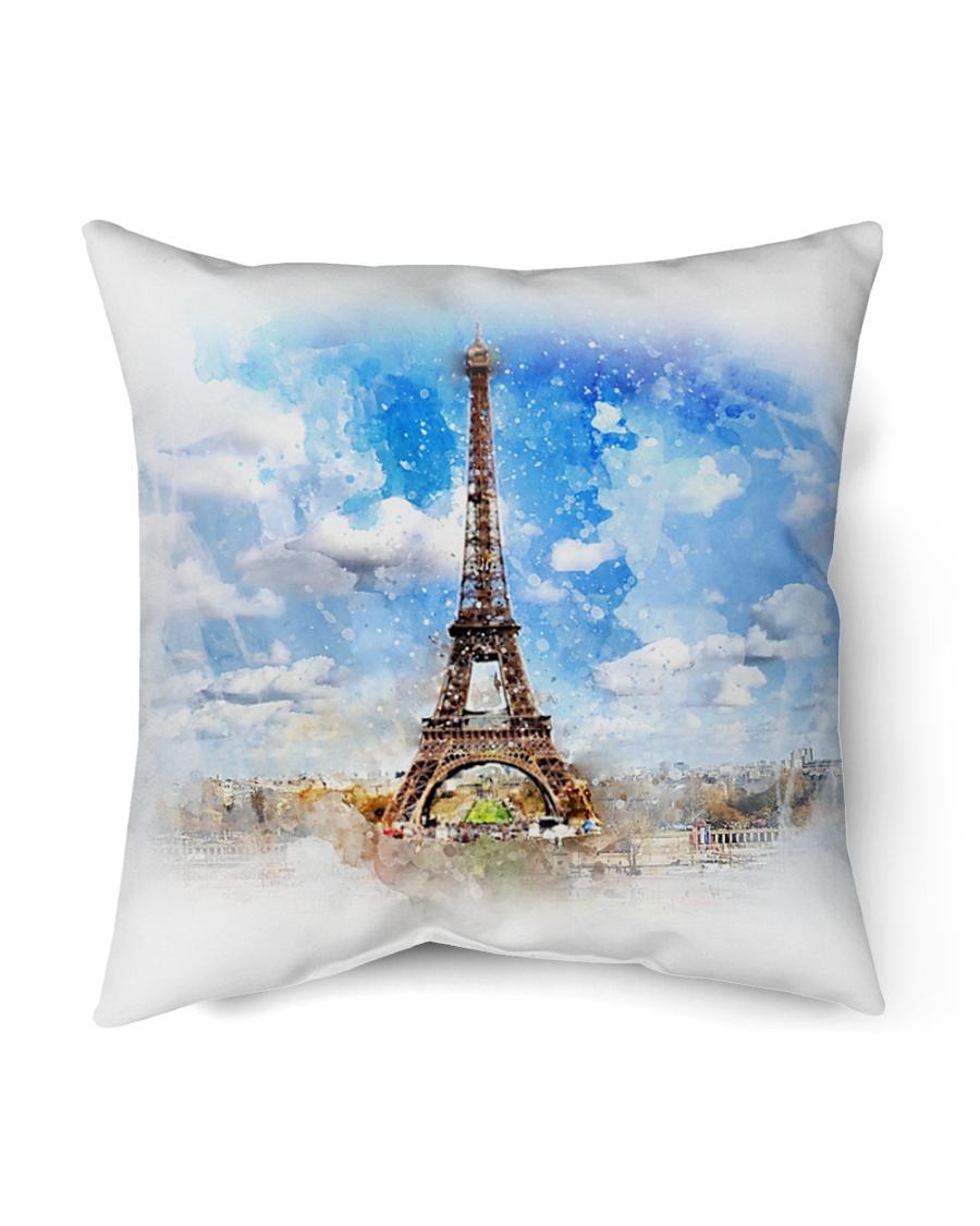 """Eiffel Tower Throw Pillow Indoor Pillow - 16"""" x 16"""""""