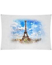 "Eiffel Tower Throw Pillow Wall Tapestry - 36"" x 26"" thumbnail"