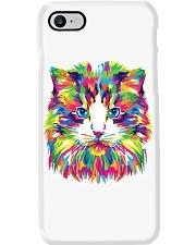 RAWR Trippy Watercolor Style Cat Design Phone Case thumbnail