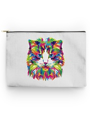 RAWR Trippy Watercolor Style Cat Design Accessory Pouch - Large thumbnail