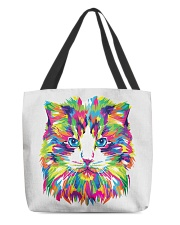 RAWR Trippy Watercolor Style Cat Design All-over Tote thumbnail
