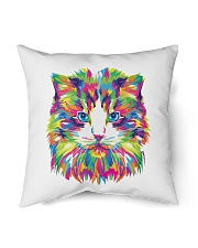 """RAWR Trippy Watercolor Style Cat Design Indoor Pillow - 18"""" x 18"""" thumbnail"""