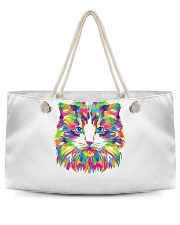 RAWR Trippy Watercolor Style Cat Design Weekender Tote thumbnail