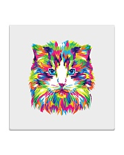 RAWR Trippy Watercolor Style Cat Design Square Coaster thumbnail