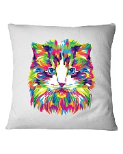 RAWR Trippy Watercolor Style Cat Design Square Pillowcase thumbnail