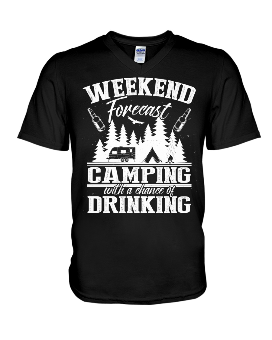 Camping - Drinking V-Neck T-Shirt