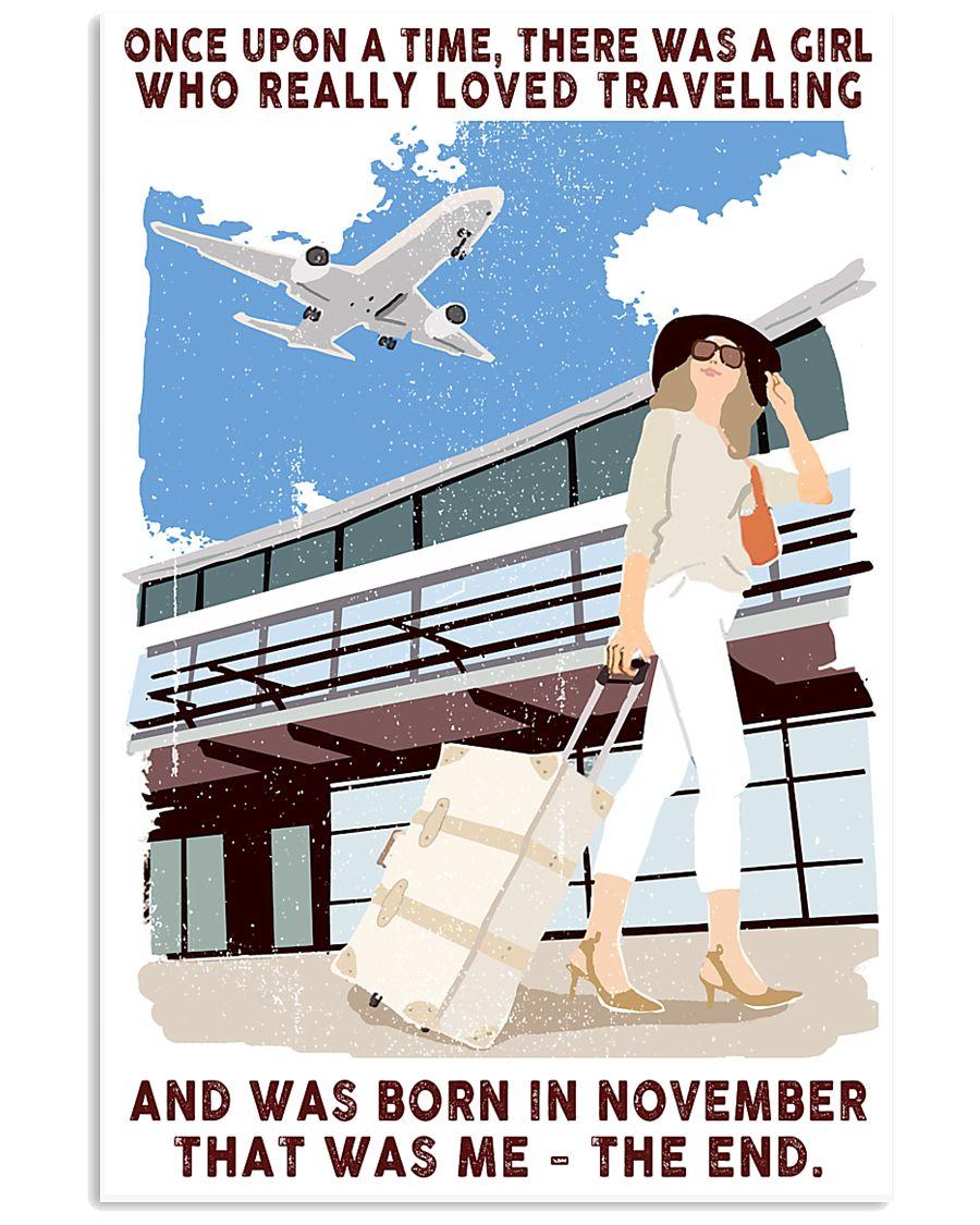 Travelling girl - November 24x36 Poster