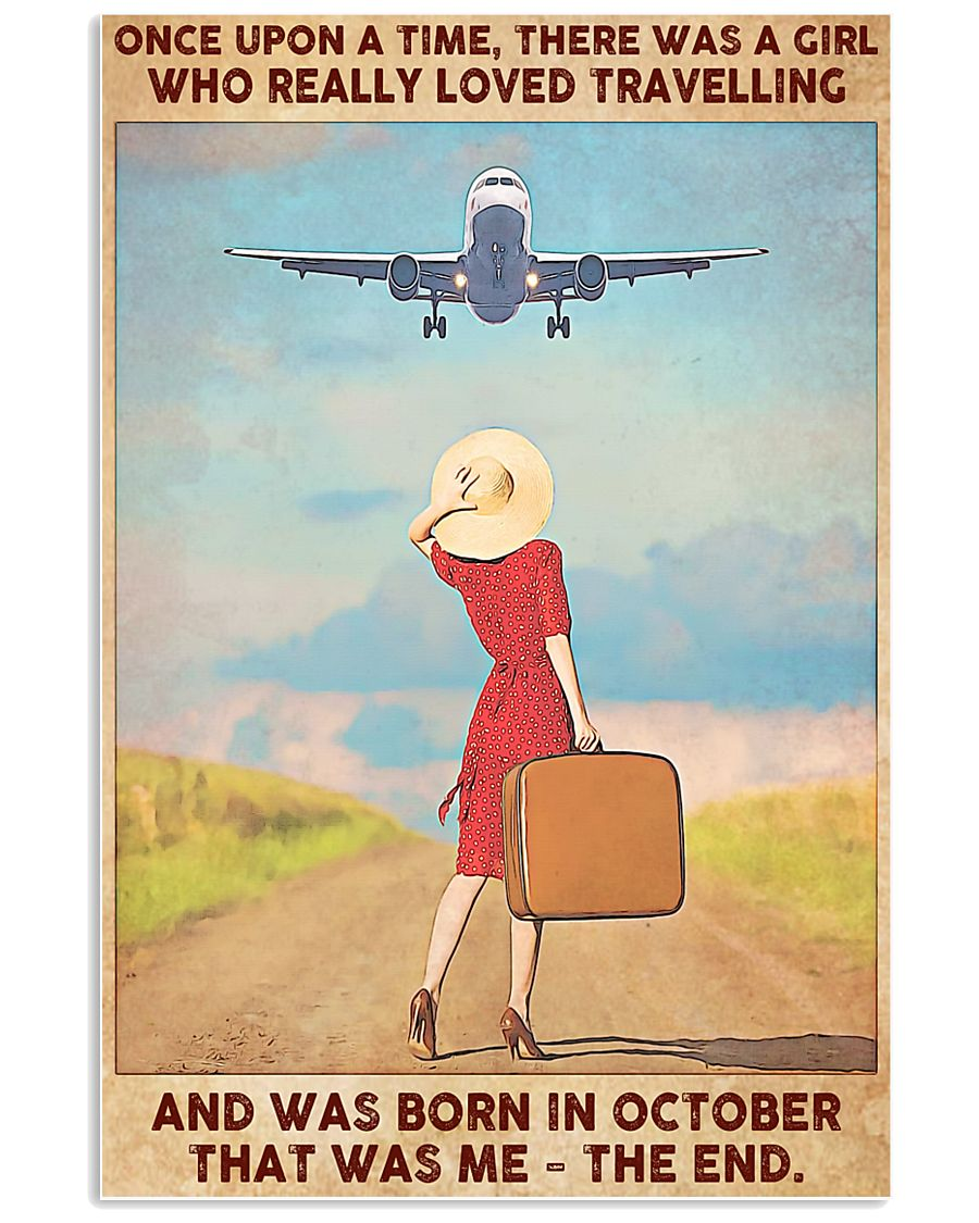 Travelling girl - October 24x36 Poster
