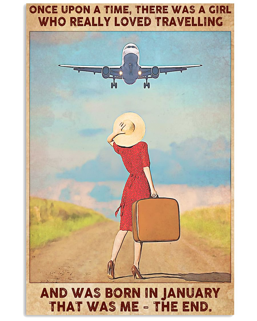 Travelling girl - January 24x36 Poster