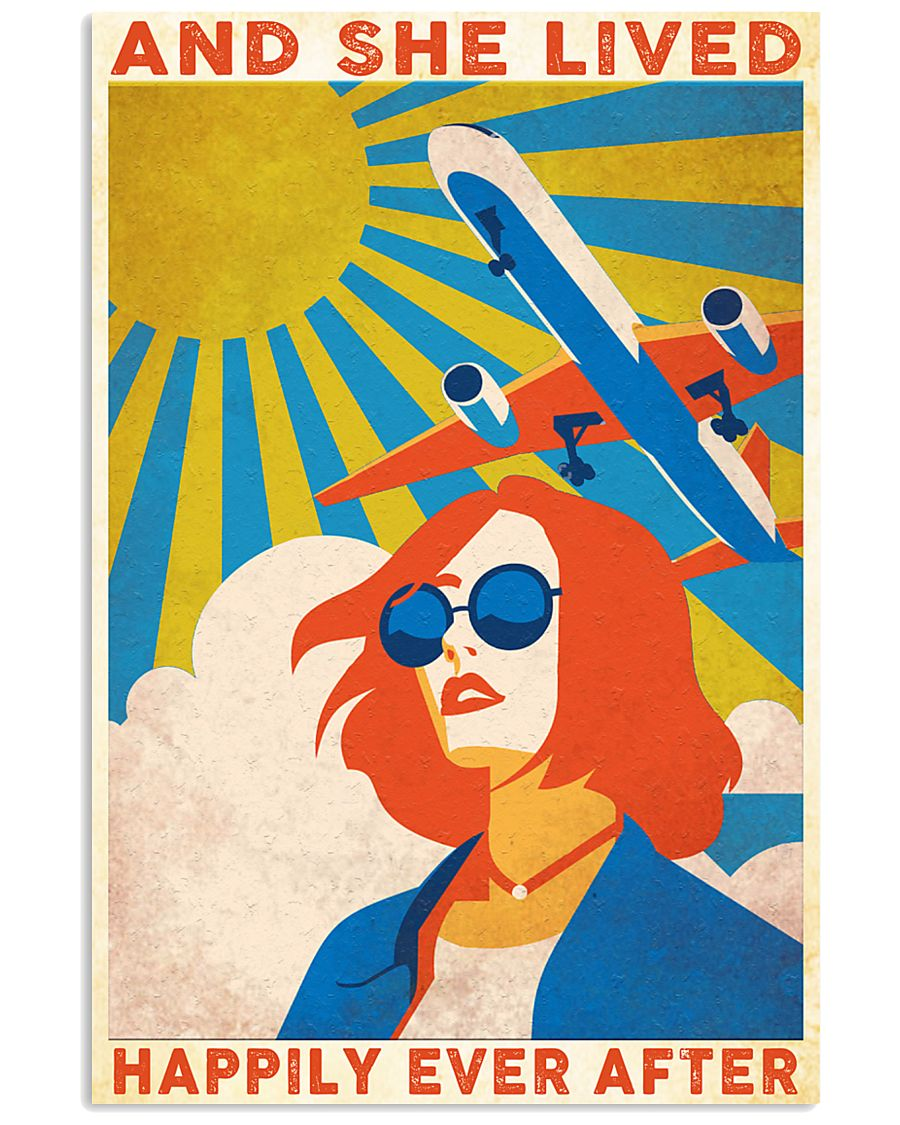 Travelling and she live hapily ever after 24x36 Poster