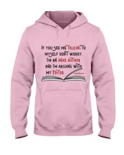 Talking To My Editor Hooded Sweatshirt front