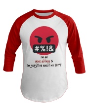 Sensitive Shyt Baseball Tee front