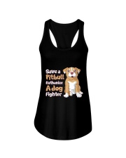 Save A Pit Bull Euthanize A Dog Fighter Rescue Dog Ladies Flowy Tank tile