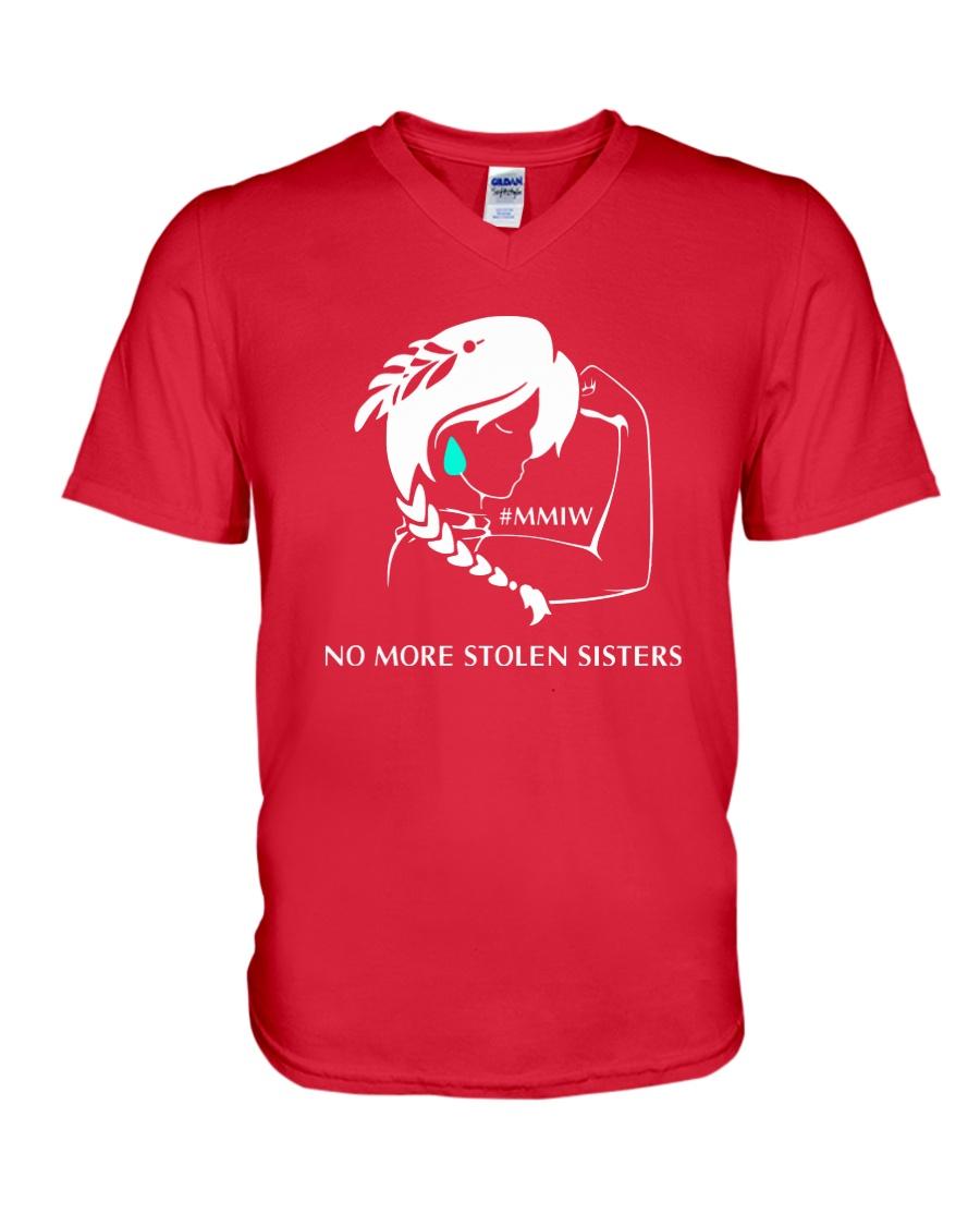 No More Stolen Sisters 2 - MMIW V-Neck T-Shirt