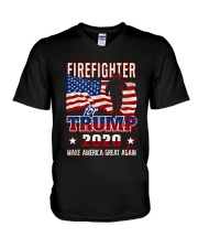 Firefighter Will Fight V-Neck T-Shirt thumbnail