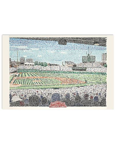 Wrigley Field Handwritten Word Art Poster