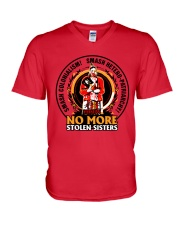 No More Stolen Sisters 3 - MMIW V-Neck T-Shirt thumbnail