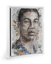 Basketball Limited Edition 001 11x14 White Floating Framed Canvas Prints front