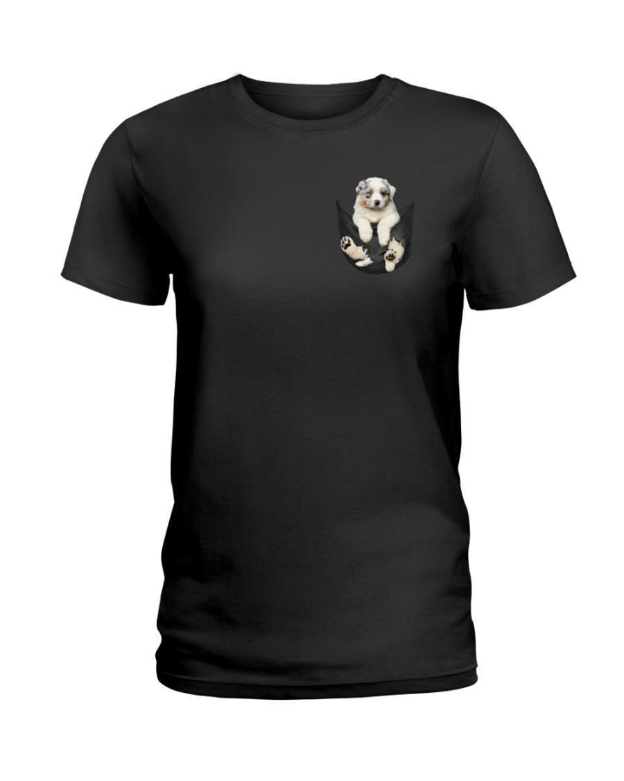 Australian Shepherd In Pocket Ladies T-Shirt