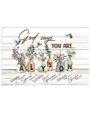God says you are - Alyson 17x11 Poster front