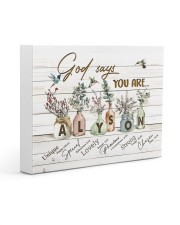 God says you are - Alyson Gallery Wrapped Canvas Prints tile
