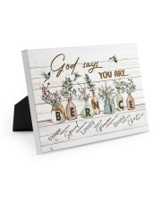 God says you are - Bernice Easel-Back Gallery Wrapped Canvas tile