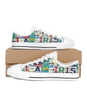 Iris - Lt203 Women's Low Top White Shoes inside-right-outside-right