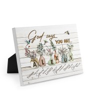 God says you are - Alexus Easel-Back Gallery Wrapped Canvas tile