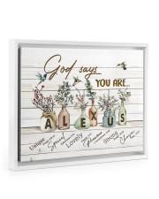 God says you are - Alexus Floating Framed Canvas Prints White tile