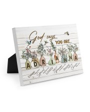 God says you are - Adrianna Easel-Back Gallery Wrapped Canvas tile