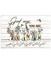 God says you are - Aliyah 17x11 Poster front