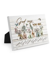 God says you are - Aliyah Easel-Back Gallery Wrapped Canvas tile