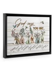 God says you are - Aliyah Floating Framed Canvas Prints Black tile