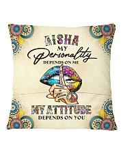 Aisha Square Pillowcase back