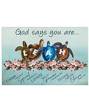 God says you are - Leah 17x11 Poster front
