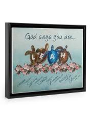 God says you are - Leah Floating Framed Canvas Prints Black tile