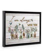 I am always with you - Barbara Floating Framed Canvas Prints Black tile