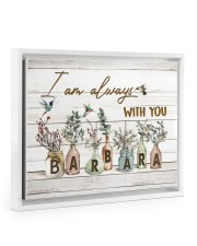 I am always with you - Barbara Floating Framed Canvas Prints White tile
