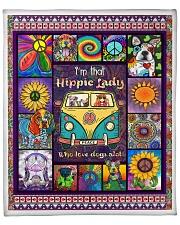 """Hippie Lady Love Dogs Fleece Blanket - 50"""" x 60"""" front"""