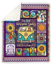 Hippie Lady Love Dogs Sherpa Fleece Blanket tile