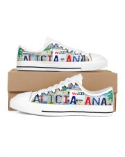 ALICIA ANA LICENSE PLATE LOW TOP SHOES LT203 Women's Low Top White Shoes inside-right-outside-right