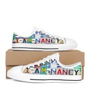 Nancy- Lt203 Women's Low Top White Shoes inside-right-outside-right