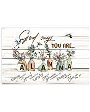 God says you are - Alanna 17x11 Poster front