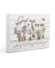 God says you are - Alanna Gallery Wrapped Canvas Prints tile