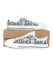 BIANCA SARA - Lt203 Women's Low Top White Shoes inside-left-outside-left