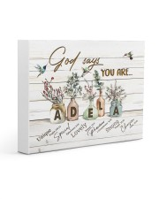 God says you are - Adela Gallery Wrapped Canvas Prints tile